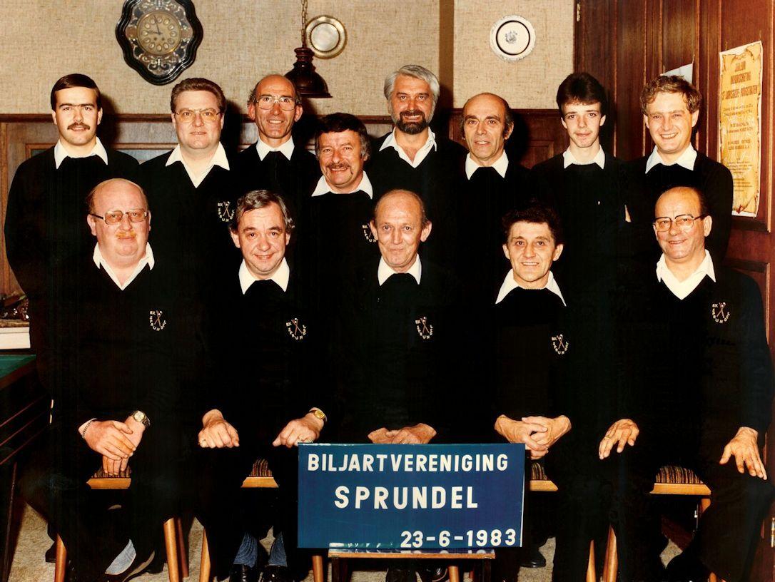 BV Sprundel oprichtingsfoto 23-6-1983 kl